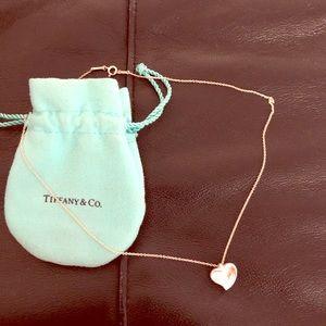 Tiffany's full heart silver necklace